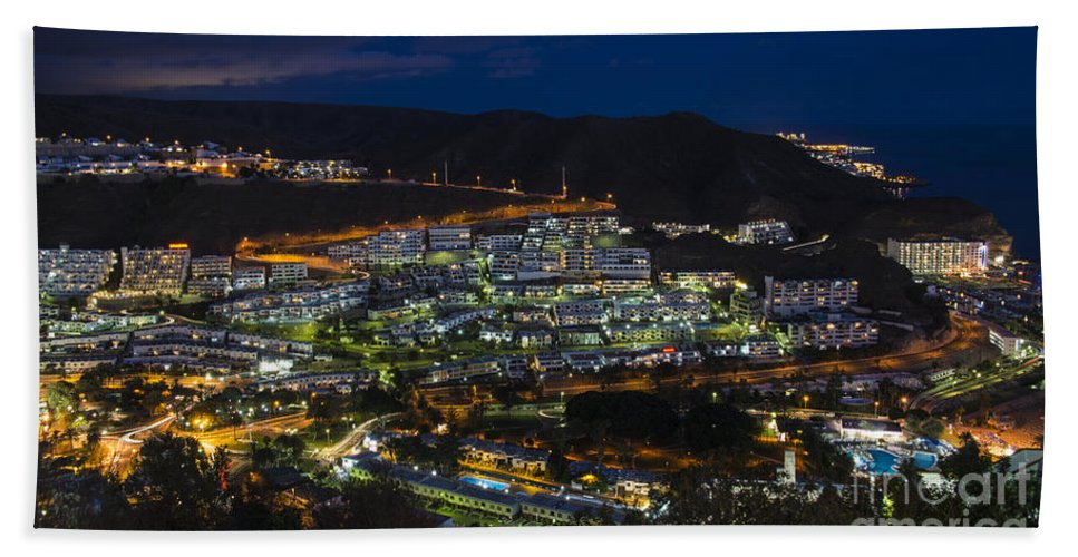 Puerto Hand Towel featuring the photograph Puerto Rico By Night by Rob Hawkins