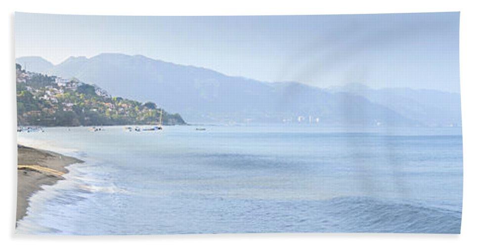 Puerto Bath Sheet featuring the photograph Puerto Vallarta Beach In Mexico by Elena Elisseeva