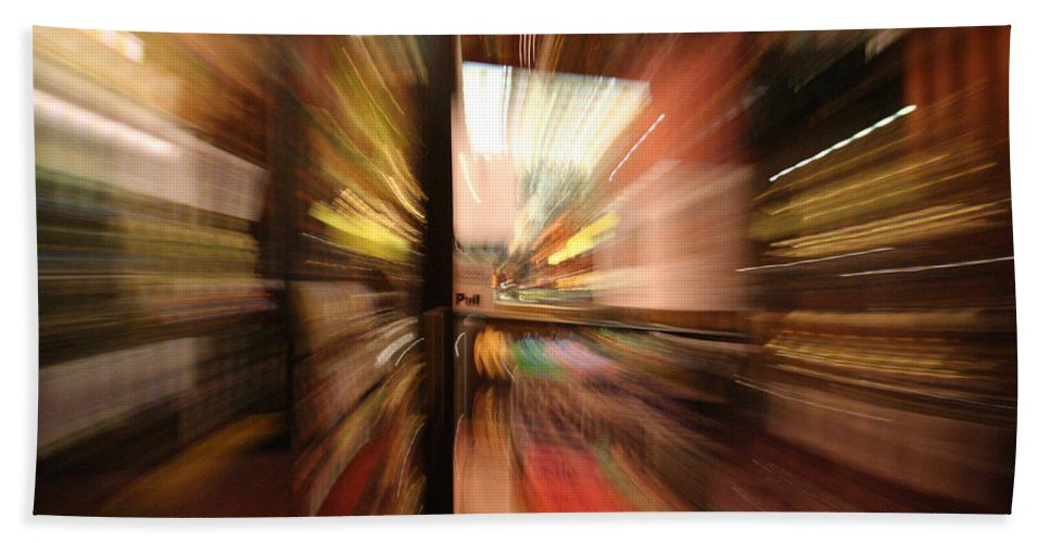 Abstract Hand Towel featuring the photograph Pull by Ric Bascobert