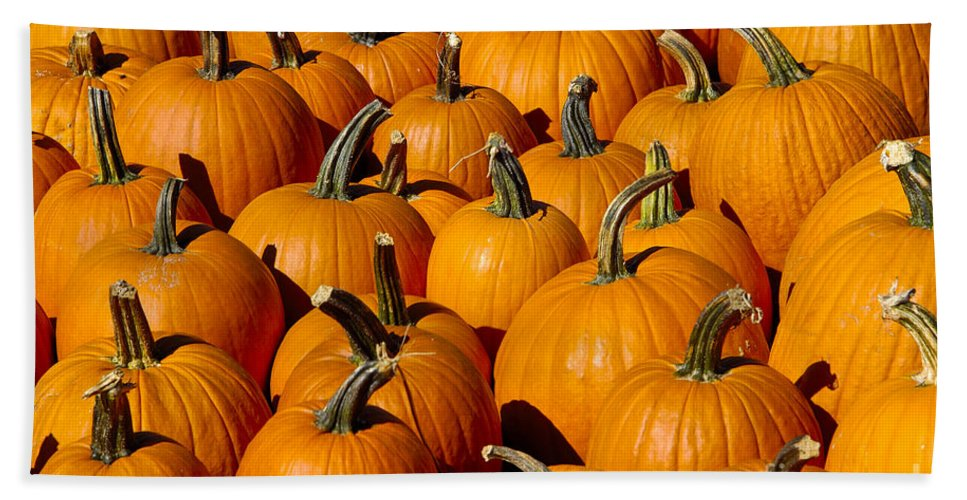 Pumpkin Hand Towel featuring the photograph Pumpkins by Anthony Sacco