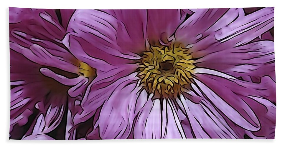 Chrysanthemum Hand Towel featuring the photograph Pure Delight by Annie Adkins