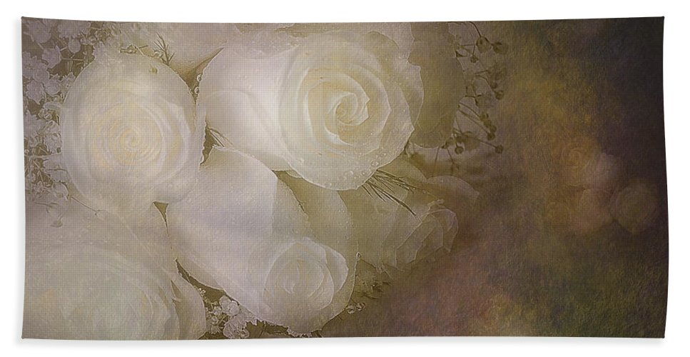Petals Bath Sheet featuring the photograph Pure Roses by Susan Candelario