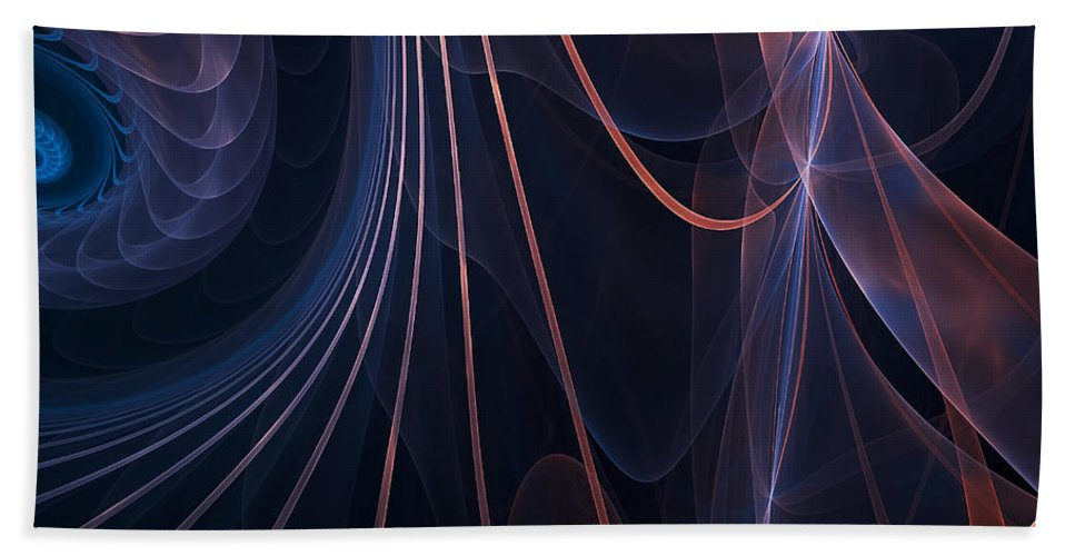 Fractal Hand Towel featuring the photograph Purple Ablaze by Lourry Legarde