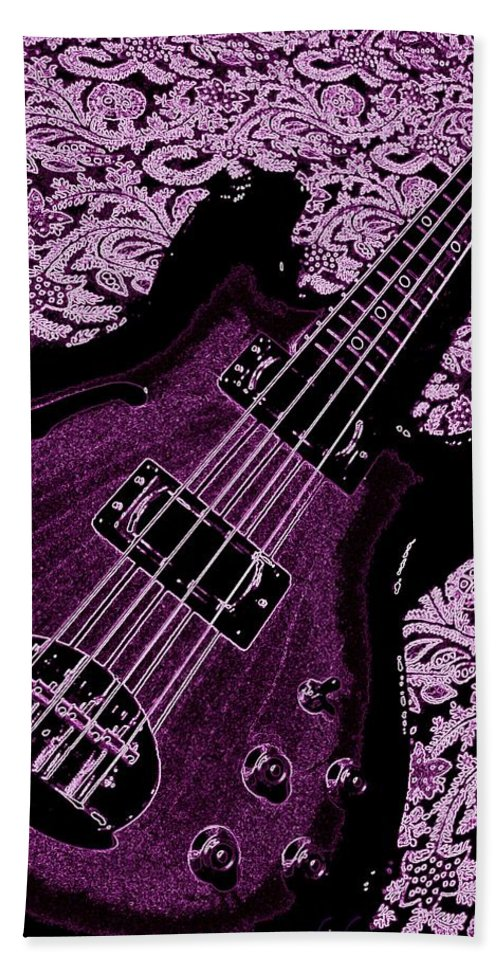 Bass Hand Towel featuring the photograph Purple Bass by Chris Berry