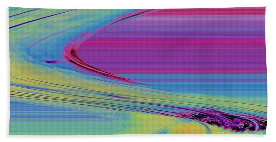 Purple Hand Towel featuring the digital art Purple by Carol Lynch