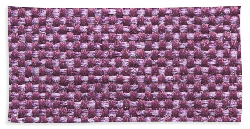 Abstract Hand Towel featuring the photograph Purple Fabric by Tom Gowanlock