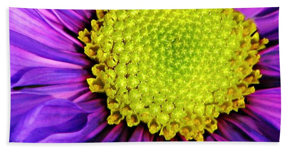 Flower Hand Towel featuring the photograph Purple Fantasy by Diana Angstadt
