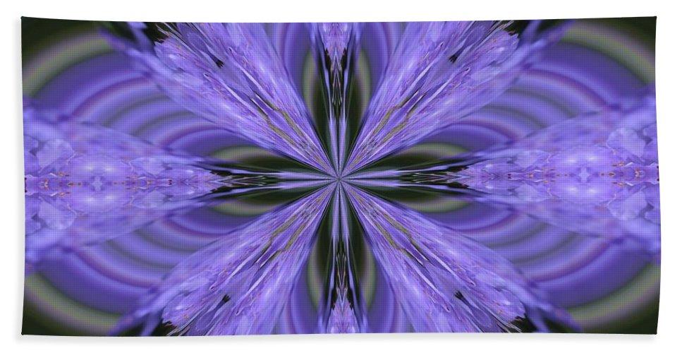Kaleidoscope Hand Towel featuring the photograph Purple Fantasy by Lena Photo Art