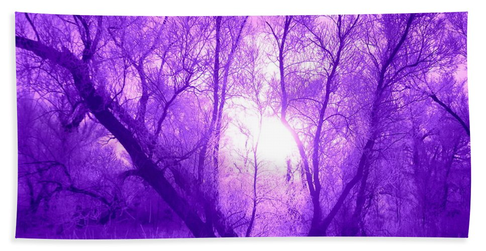 Frost Hand Towel featuring the photograph Purple Haze by Bonfire Photography