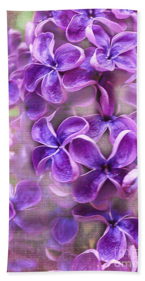 Flower Bath Sheet featuring the photograph Purple Lilacs by Janice Pariza