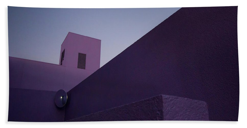 San Jose Bath Sheet featuring the photograph Purple Maze by Dayne Reast