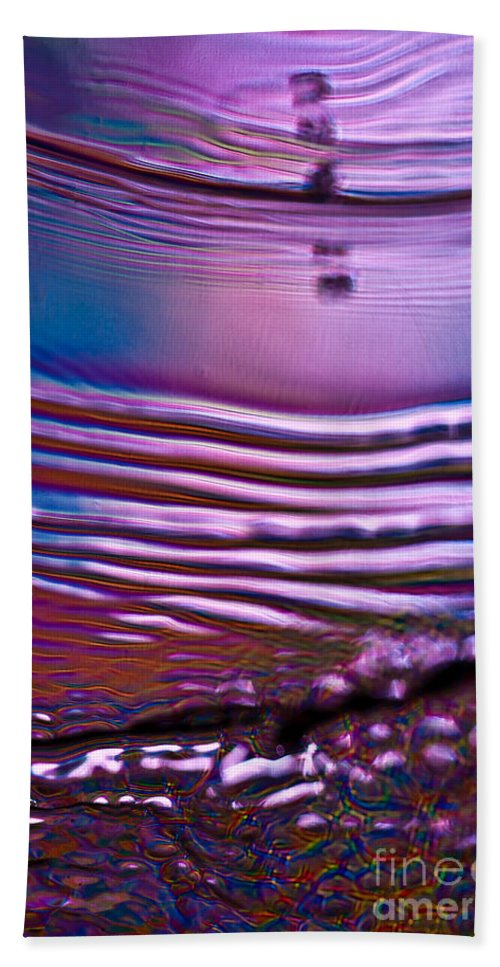 Abstract Bath Sheet featuring the photograph Purple Meterorite by Anthony Sacco