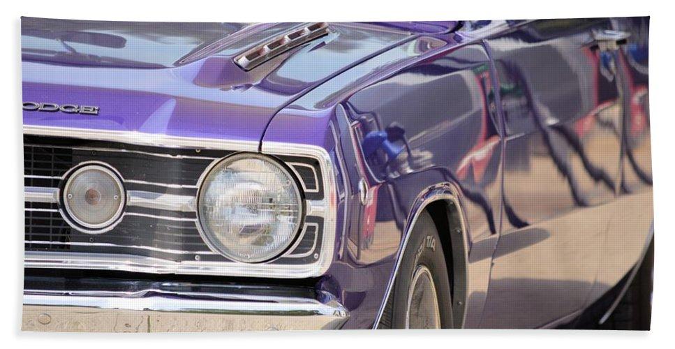 Mopar Bath Sheet featuring the photograph Purple Mopar by Bonfire Photography