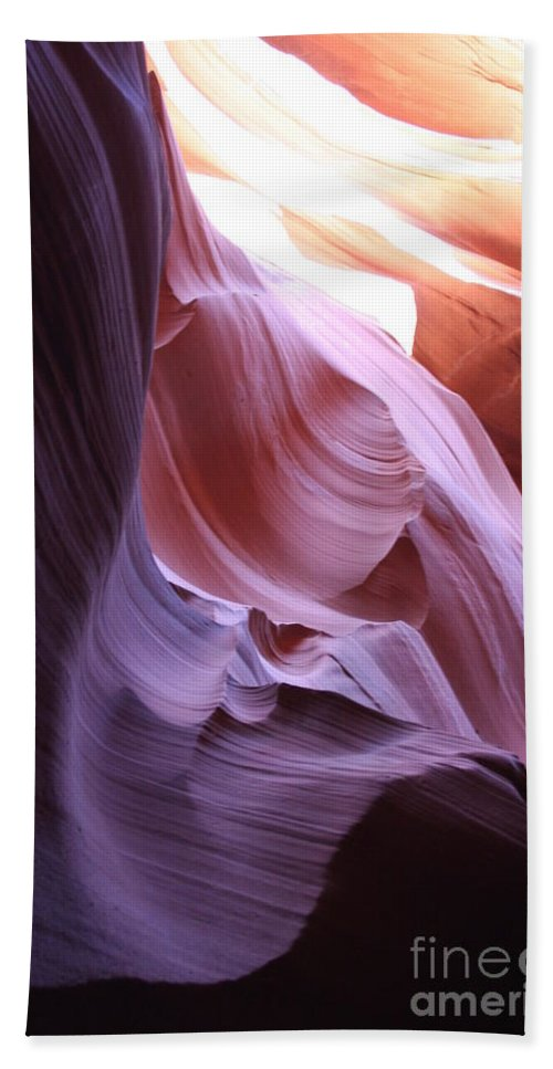 Canyon Bath Sheet featuring the photograph Purple Sandstone by Christiane Schulze Art And Photography