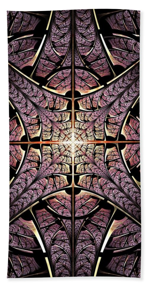 Malakhova Bath Sheet featuring the digital art Purple Shield by Anastasiya Malakhova