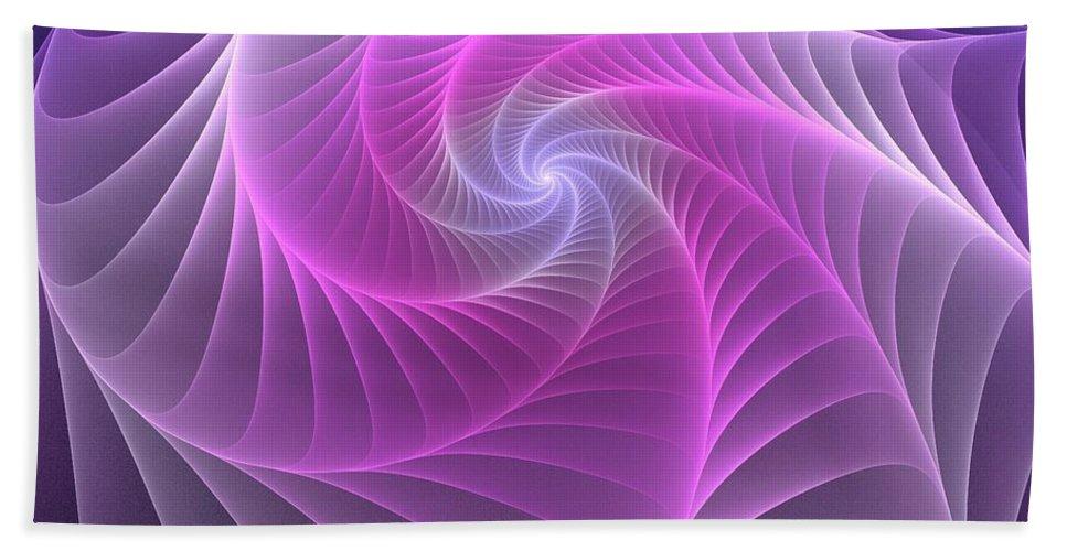 Web Bath Sheet featuring the digital art Purple Web by Anastasiya Malakhova