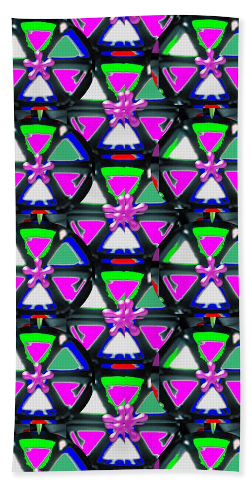 Pyramid Bath Sheet featuring the mixed media Pyramid Dome Triangle Purple Elegant Digital Graphic Signature  Art Navinjoshi Artist Created Ima by Navin Joshi