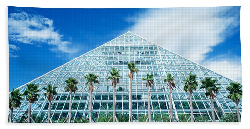 Photography Hand Towel featuring the photograph Pyramid, Moody Gardens, Galveston by Panoramic Images