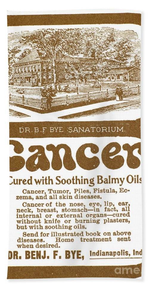 19th Century Bath Sheet featuring the photograph Quack Advertisement by Granger