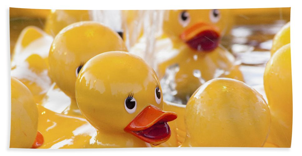 Rubber Ducky Hand Towel featuring the photograph Quackers by Caitlyn Grasso