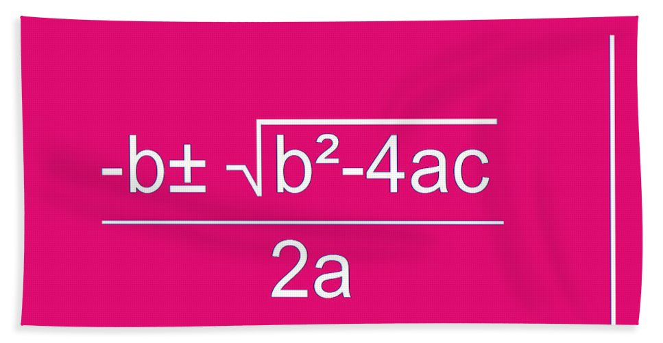 Featured Hand Towel featuring the digital art Quadratic Equation by Paulette B Wright