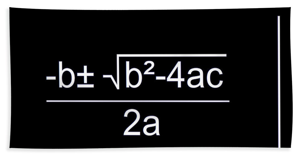 Featured Hand Towel featuring the digital art Quadratic Equation W-b by Paulette B Wright