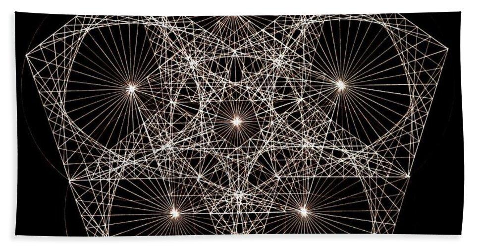 Star Bath Sheet featuring the drawing Quantum Star II by Jason Padgett