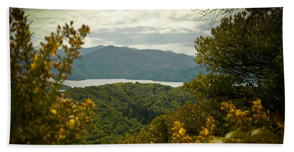 Canvas Hand Towel featuring the photograph Queen Charlotte Sound by Mark Llewellyn