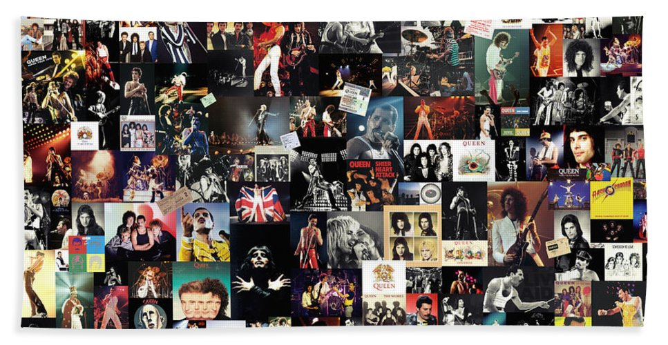 Queen Bath Sheet featuring the digital art Queen Collage by Zapista