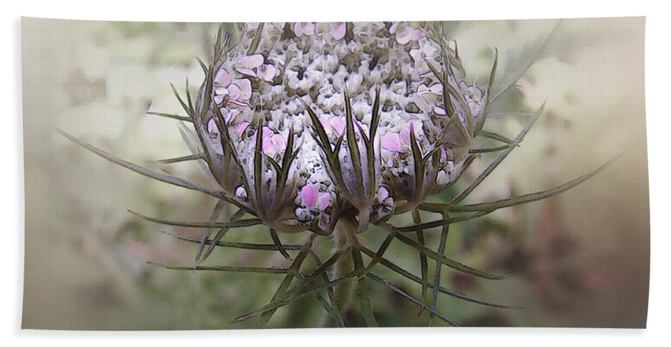 Queen Anne's Lace Bath Sheet featuring the digital art Queen Of The Mist by RC DeWinter