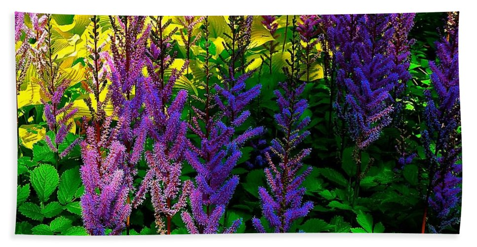 Purple Hand Towel featuring the photograph Queens Royal Standards by Tim G Ross