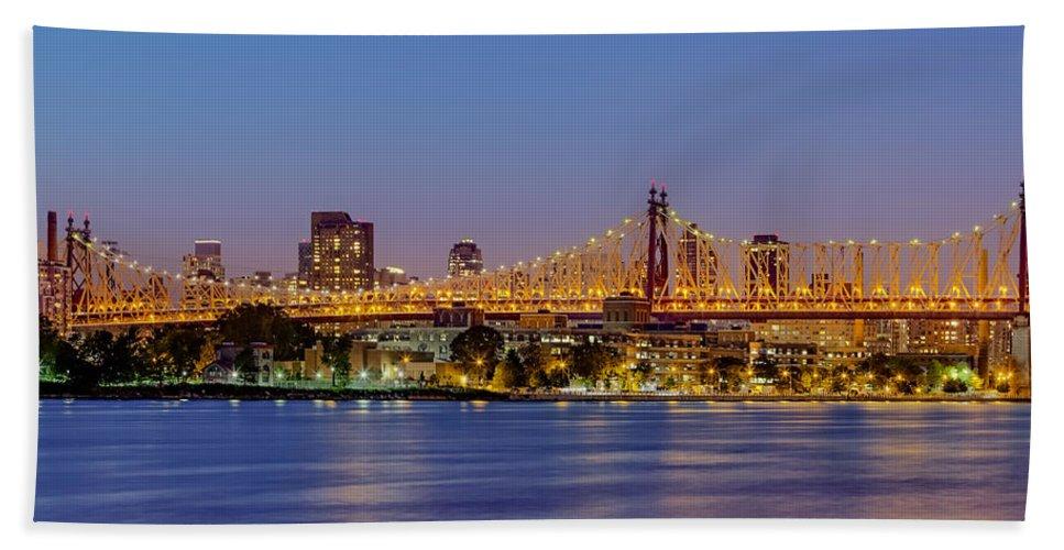59th Street Bridge Bath Sheet featuring the photograph Queensboro Bridge 59th Street Nyc by Susan Candelario