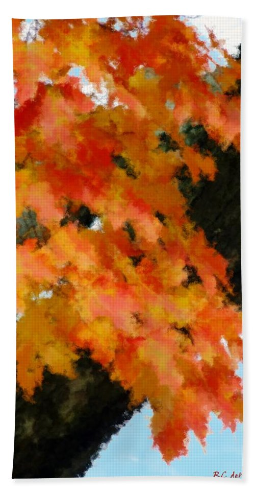 Autumn Hand Towel featuring the painting Quick Take On Autumn by RC DeWinter
