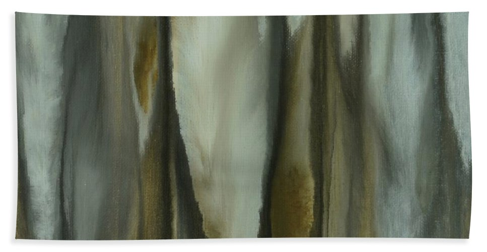Abstract Hand Towel featuring the painting Quills by Sue Stuart