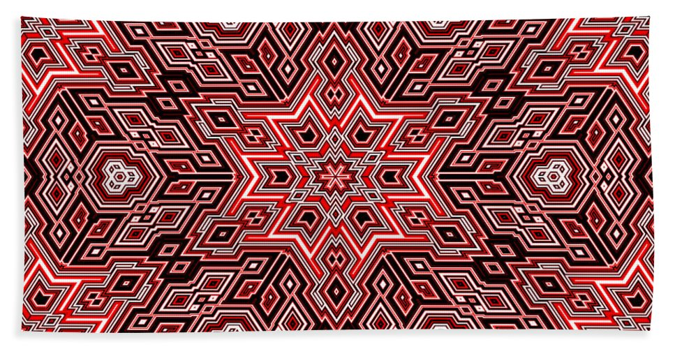 Abstract Bath Towel featuring the digital art Quilted... by Tim Fillingim