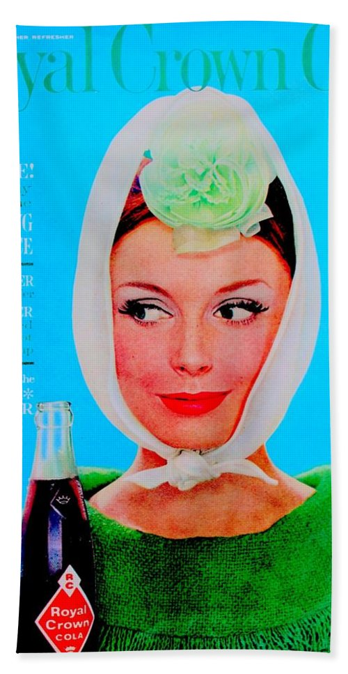 Vintage Hand Towel featuring the photograph R C Cola by Benjamin Yeager