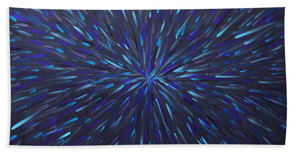 Abstract Bath Sheet featuring the painting Radiation Grey by Dean Triolo