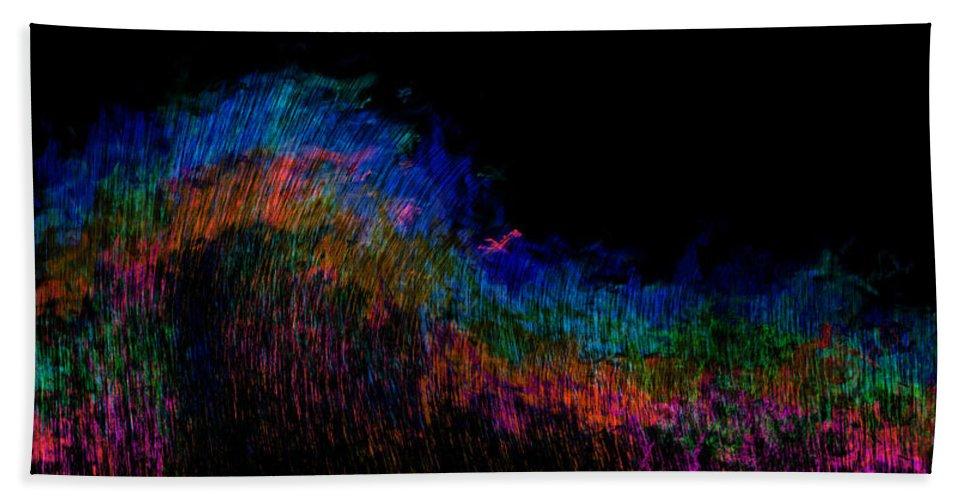 Radio Bath Sheet featuring the painting Radio Waves by Christopher Gaston