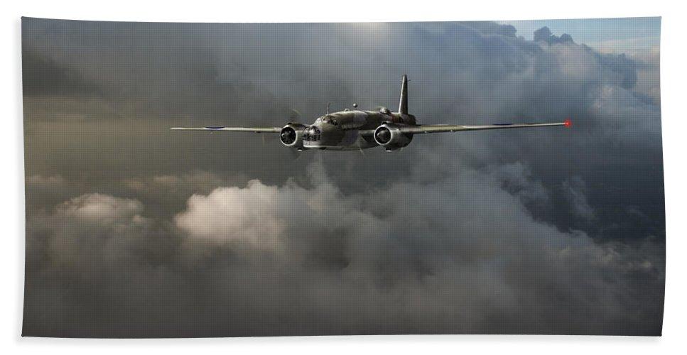 Vickers Warwick Bath Sheet featuring the photograph Raf Coastal Command Vickers Warwick Asr by Gary Eason