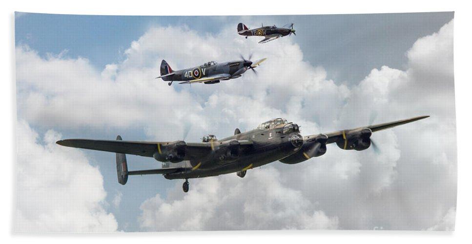 Avro Lancaster Bath Sheet featuring the digital art Raf Legends by J Biggadike