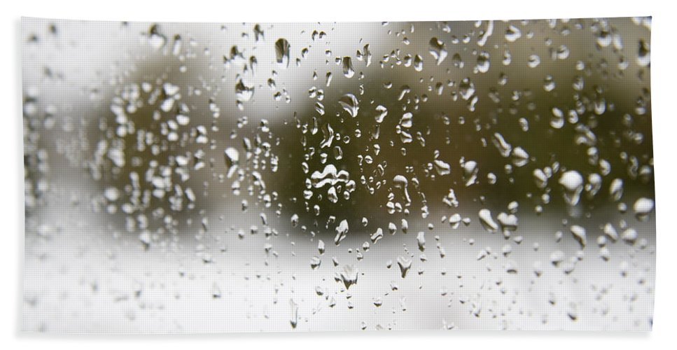 Drops Hand Towel featuring the photograph Rain by Alexey Stiop