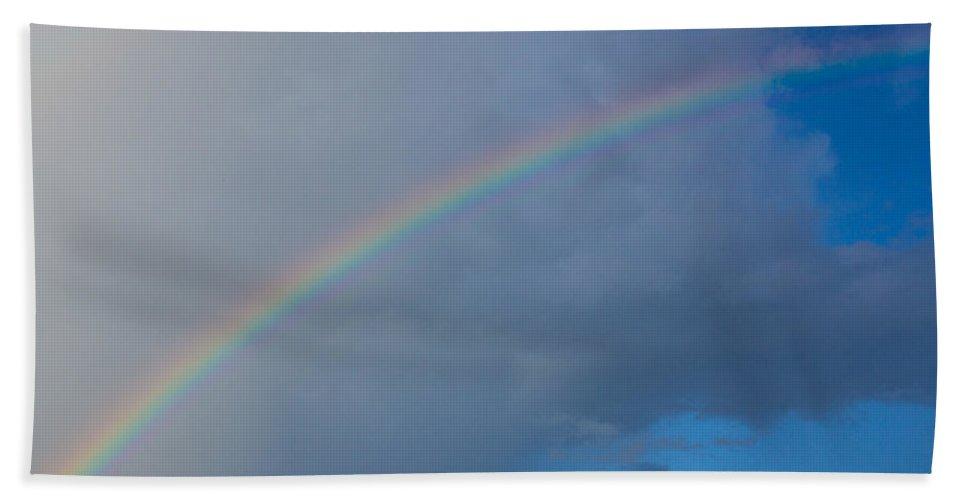 Beautiful Bath Sheet featuring the photograph Rainbow by Leah Palmer