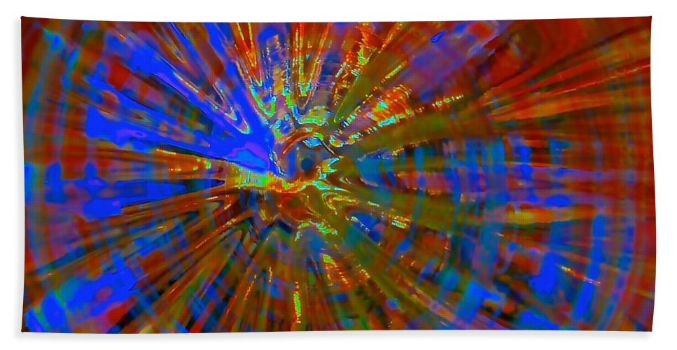 Glassware Bath Sheet featuring the photograph Rainbow Pumpkin Soul by Tim G Ross