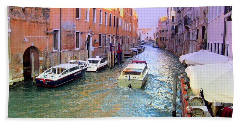 Venice Bath Sheet featuring the photograph Rainbow Venice by Irina Davis