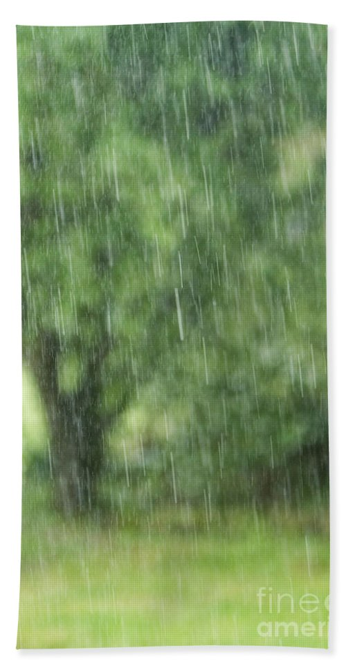 Abstract Hand Towel featuring the photograph Rainfall by Dan Radi
