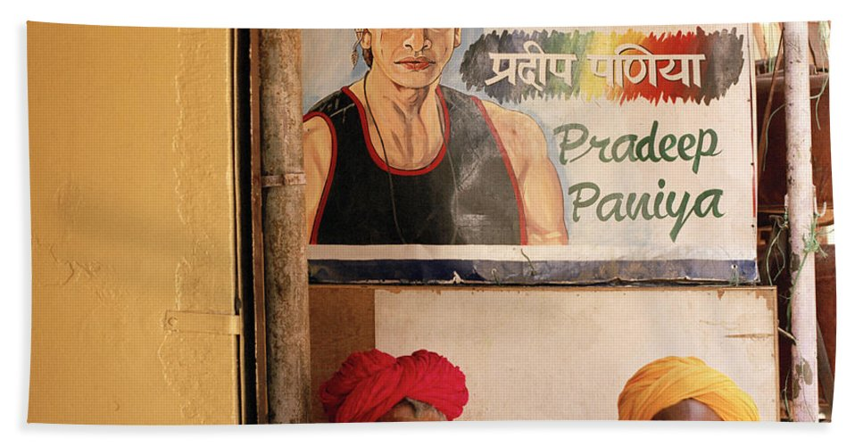 India Bath Sheet featuring the photograph Life Of Rajasthan by Shaun Higson
