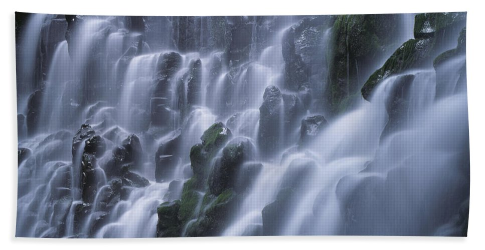 Americana Hand Towel featuring the photograph Ramona Falls by Jim Corwin