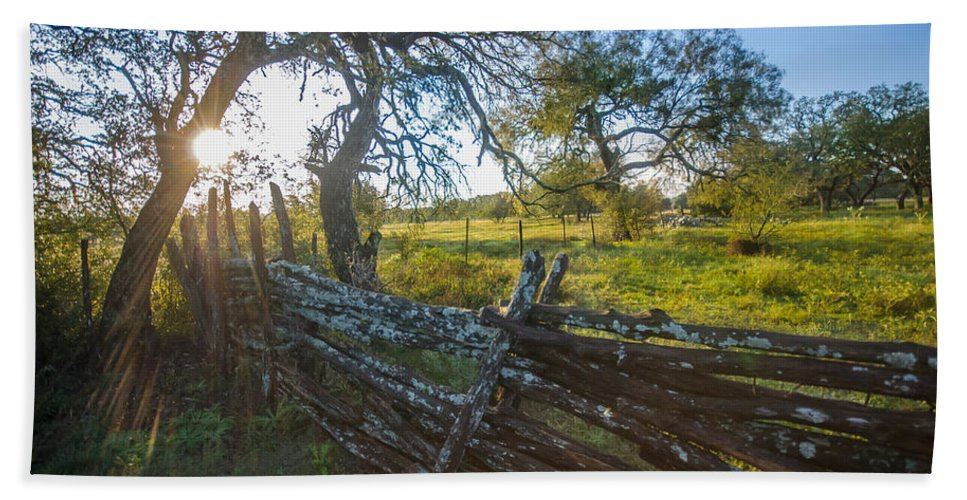 Fence Hand Towel featuring the photograph Ranch Fence by Sean Wray