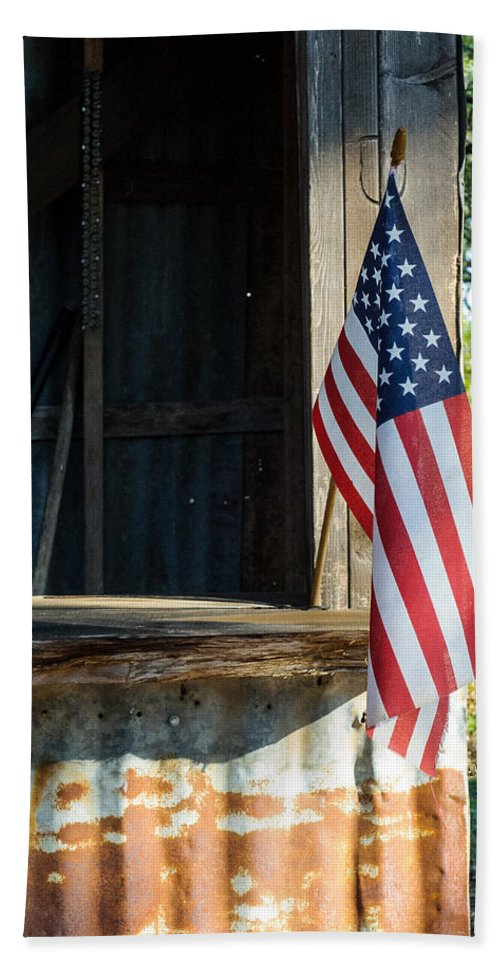 Ranch Hand Towel featuring the photograph Ranch Flag by Sean Wray