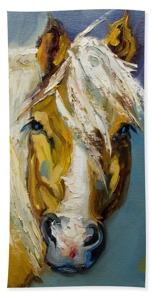 Horse Bath Towel featuring the painting Ranch Horse by Diane Whitehead